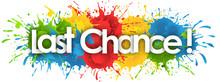 Last Chance Word In Splash's Background