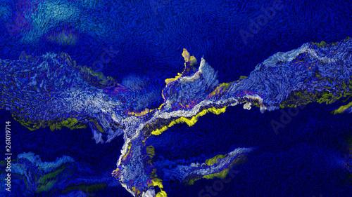 Deurstickers Kristallen Dark Blue Wool Felt Texture