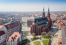 Aerial Drone View On Legnica A...