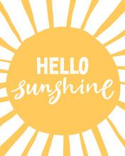 Hello Sunshine. Unique Hand Wr...