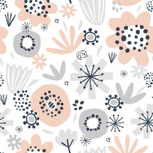 Cute Seamless Pattern With Pin...