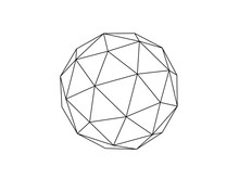 Geodesic Sphere Illustration Vector