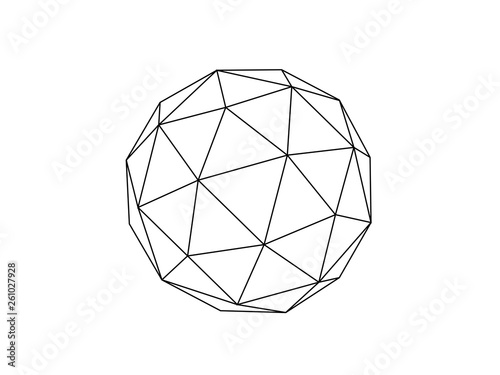 Valokuva Geodesic sphere illustration vector