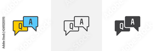 FAQ, questions and answers icon Canvas Print