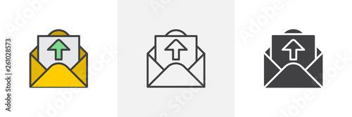 Valokuva  Outgoing message icon