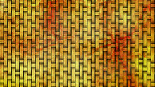 Red And Yellow Woven Bamboo Texture Background