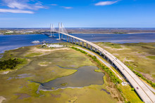 Aerial Cable-stayed Bridge Sid...