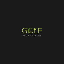 Golf Sport Brand Text Creative...
