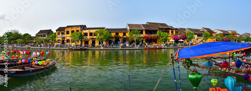 Foto auf AluDibond Himmelblau Panoramic picture of Old Town in Hoi An, Vietnam. UNESCO World Heritige site.