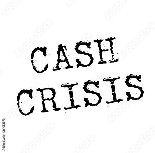 CASH CRISIS stamp on white Canvas Print