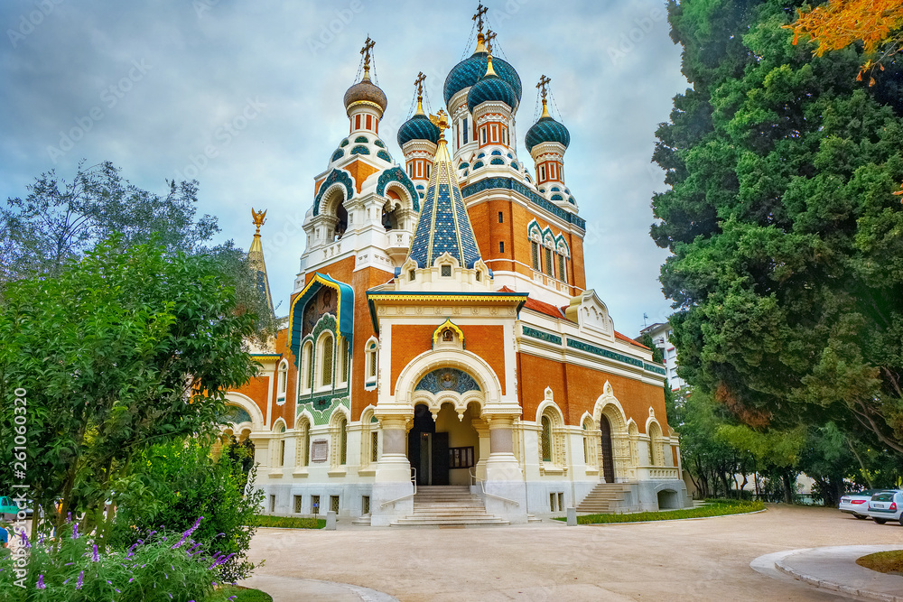Fototapety, obrazy:  Russian Orthodox Cathedral of St Nicolas in Nice. France