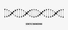 DNA Vector Illustration. Genetic Engineering Concept