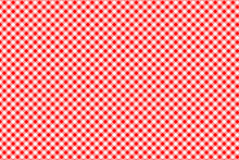 Red Gingham Pattern. Texture From Rhombus/squares For - Plaid, Tablecloths, Clothes, Shirts, Dresses, Paper, Bedding, Blankets, Quilts And Other Textile Products. Vector Illustration.