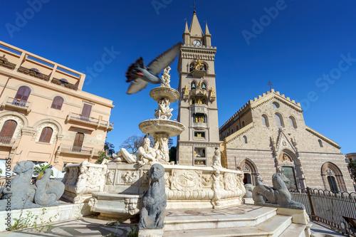 MESSINA, ITALY - NOVEMBER, 06 - Messina Duomo Cathedral with astronomical clock Wallpaper Mural