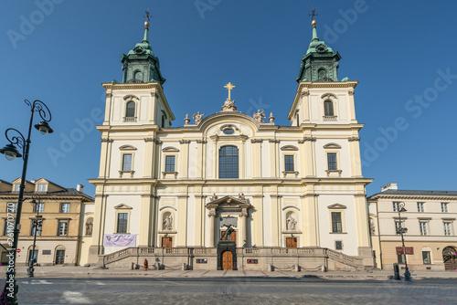 Fototapeta The Holy Cross Church in Warsaw. obraz
