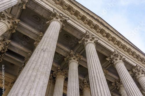 Fotografija Vintage Old Justice Courthouse Column