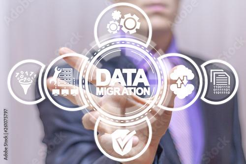 Fototapeta Data Migration concept.