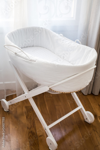 Photo Elegant baby bassinet