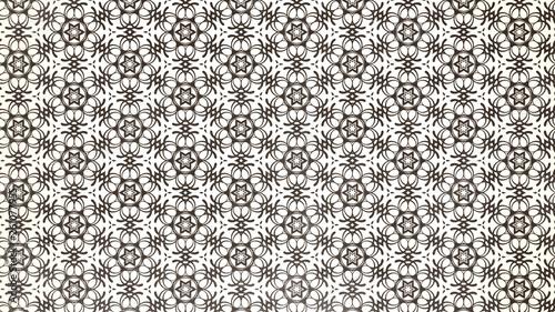 Brown and White Ornamental Vintage Background Pattern Obraz na płótnie