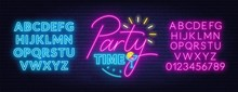Party Time Neon Lettering In R...