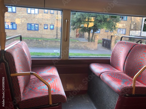 4 seats on the London Routemaster bus фототапет