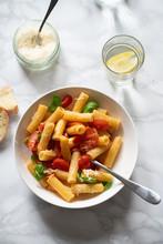 Macaroni With Tomatoes And Basil