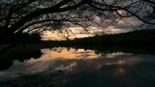 Timelapse Of Beautiful Sunset ...