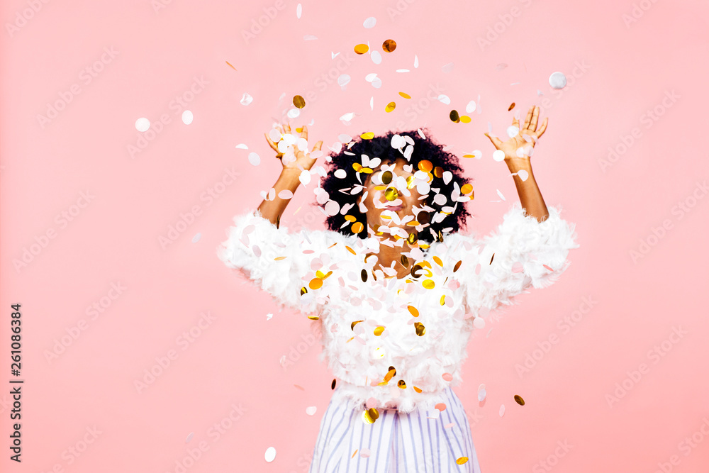 Fototapety, obrazy: Confetti throw- celebrate success and happiness