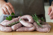 Homemade Sausages With Herbs