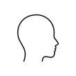 Head line silhouette. Profile contour. Vector illustration.