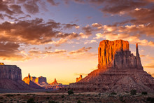 Monument Valley At Sunset, Ari...