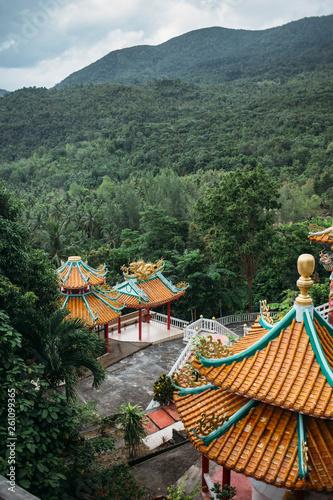 In de dag Historisch mon. Chinese buddhist temple