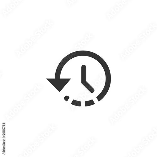 Time icon in simple design. Vector illustration Fototapet