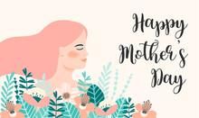 Happy Mothers Day. Vector Illu...