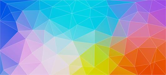 Kolorowe tło płaskie z trójkątów. Szablon układu kreatywnej koncepcji dla aplikacji internetowych i mobilnych,