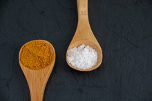 Close-up Of Two Wooden Spoons ...