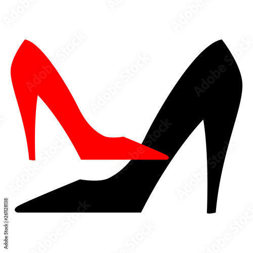 51f3fd1485f Red and black isolated elegant classic shoes with high heel for ...