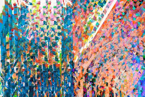 Fotografia  colorful brush strokes - digital painting - hand drwan element