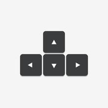 Arrow Keys Keyboard Vector Icon