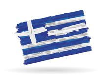 Drapeau Grec Et Européen