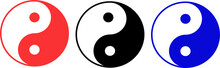 Yin Yang Symbols Multicolored ...