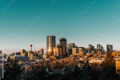фотография  Panorama of Calgary at sunrise. Calgary, Alberta, Canada