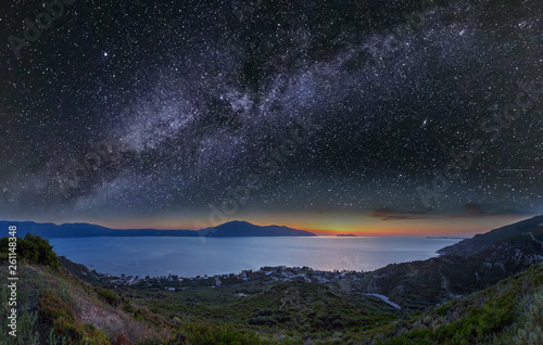 Obraz Adriatic sea night view, Orikum, Albania - fototapety do salonu