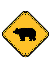 Eisbär Braunbär Gefahr Achtung Vorsicht Gebiet Zone Schild Grizzlybär Schwarzbär Bär Berge Teddy Wald Tier Wildnis Wild Gefährlich Clipart Design Logo