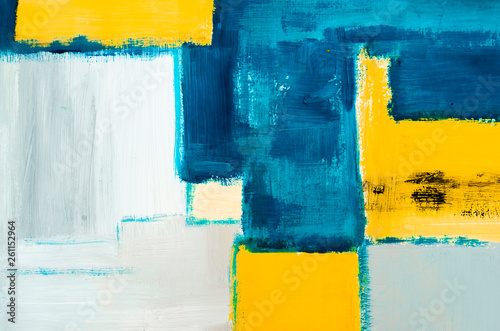 Photo  detail of  artistic abstract oil painted background, modern pop art made in oil