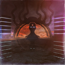 Concept Art Of Strange And Dark Temple Environment