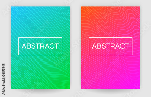 Fototapety, obrazy: Abstract cool gradient with line wave vector background