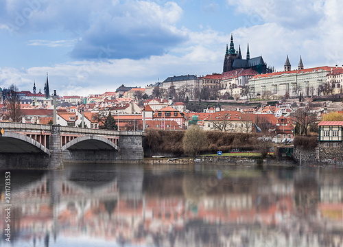 Fotografie, Obraz  Charles Bridge and Vltava river at Czech Republic