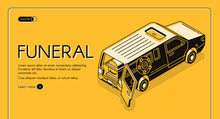 Funeral Service Isometric Vect...