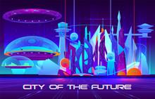City Of Future Cartoon Vector ...